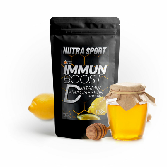 ImmunBoost D-vitamin + magnesium honey&lemon