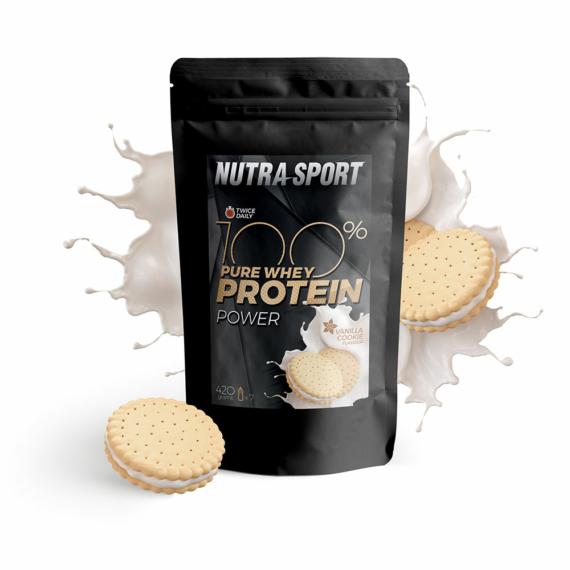 NutraSport 100% Pure Protein Power vanília-süti