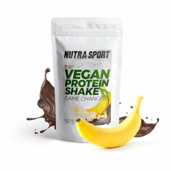 NutraSport Vegan Protein Shake chocolate banana